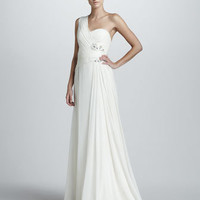 Notte by Marchesa One-Shoulder Grecian Gown - Bergdorf Goodman