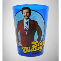 "Anchorman ""Stay Classy"" Blue Shot Glass"