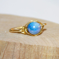 Blue Shell Belly Button Ring, Belly Button Ring, Jewelry, Navel Ring,  Belly Button Jewelry, Sterling Silver or 14k Gold Filled