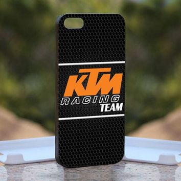 KTM Racing Team LOGO, Print on Hard Cover iPhone 5 Black Case