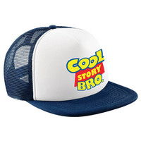 Cool Story Bro Children's Trucker Hat Toy Story Inspired Cartoon Slogan Funny