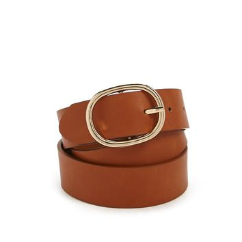 Plus Size Faux Leather Belt