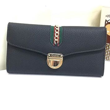 Gucci Women Leather Purse Wallet-13
