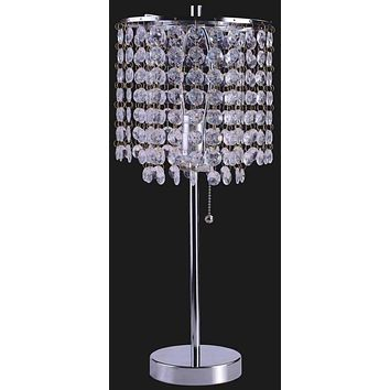 Bubble Cascade Table Lamp With Metal Base- Silver
