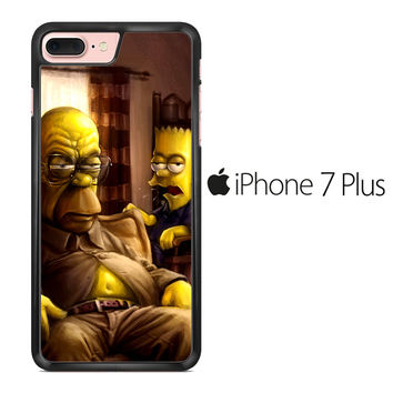 The Simpsons Homer Marge Bart Breaking Bad iPhone 7 Plus Case