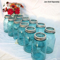 DIY Wedding Flowers Mason Jars Centerpieces 12 by treasureagain