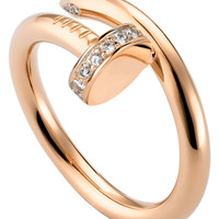 Juste un Clou 18ct pink-gold and diamond ring