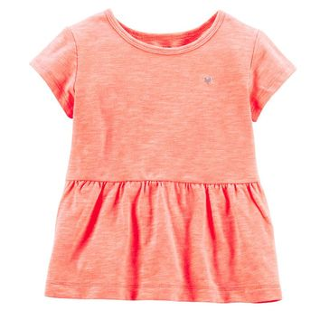 Carter's Solid Peplum Top - Girls