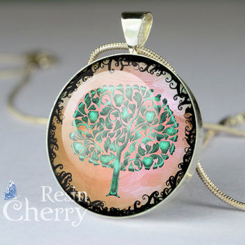 tree pendant charms,tree resin pendants,tree jewelry pendant- D0780CP