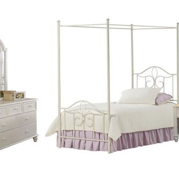 1354 Westfield Canopy Bed - Full, Rails, Nightstand, Dresser, and Mirror - Free Shipping!