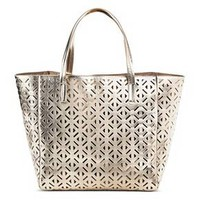 Women's Faux Leather Perforated Tote Handbag - Merona™ : Target