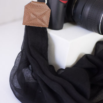 DSLR Camera Strap  - Plain Black