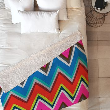 Holli Zollinger Chevron Boheme Fleece Throw Blanket