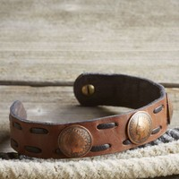 3 Penny Leather Bracelet  | J.L. Powell