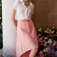 Retro Pink Waterfall Skirt | Cherry Blossom Skirt