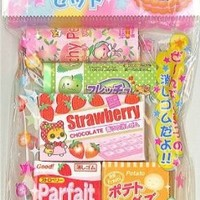5 cute hamster snack scented erasers from Japan kawaii