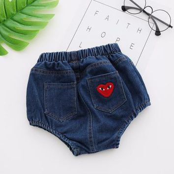 Hot Shorts Cowboy Smiley Triangle  Baby Bread Pants  Infant Baby Girl  Ruffle  Ruffled Panties baby kids clothesAT_43_3