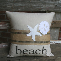 Rustic Beach Pillow Sham in Black  by MadisonReeceDesigns on Etsy