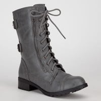 Soda Dome Womens Boots Grey  In Sizes