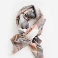 Willow Blush Grey Blanket Scarf