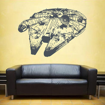 kik2283 Wall Decal Sticker cool space spacecraft star wars living room bedroom