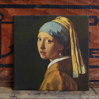 Vermeer Ceramic Tile Coaster Set Artwork Trivet Hot Plate Pot Stand Plant Splashback Kitchen Decor Tile Interior Tile Coasters