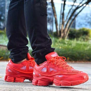 CREYNW6 Sale Raf Simons x Adidas Consortium Ozweego 2 III Retro Sport Smart Running Shoes Red Trainers Shoes S74584