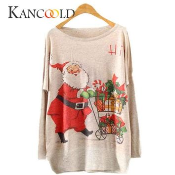 Sweaters christmas sweater o-neck batwing knit ugly christmas sweater funny women Lady Knit pullovers deer female 2018 NO28A