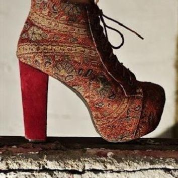 Lita Fab Beige/Burgundy from 6Foot7Shoes