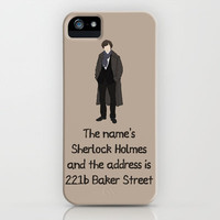 Sherlock iPhone Case by Sally  Diamonds | Society6