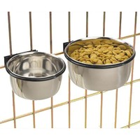ProSelect Stainless Steel Coop Cups  -  Versatile Coop Cups for Pet and Animal Cages, 8-Ounce
