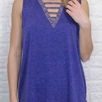 Raising the Bar Tank Top {indigo}