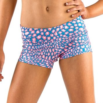California Kisses SOPHIA LUCIA CHEETAH PRINT SHORT - Dancewear Girls Bottoms