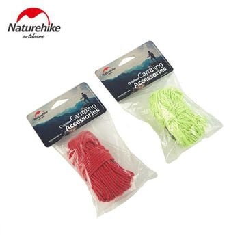 Naturehike 4x4m Outdoor Strong Fluorescent Guyline Tent Accessories Guy Line Wind Rope Camping Tarp/Tarpaulin Cord