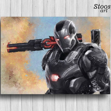 war machine marvel civil war poster iron man print marvel wall art iron man decor