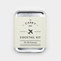 Old-Fashioned Carry-On Cocktail Kit