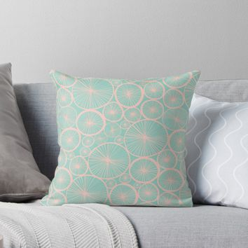 'Pastel Wheels #redbubble #pattern' Throw Pillow by designdn