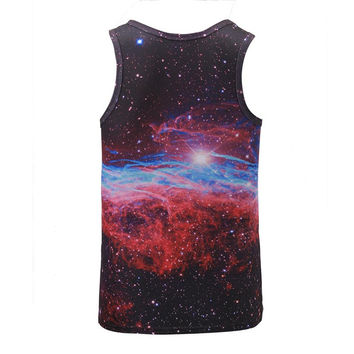 New Arrival Men/women 3d Tank tops summer cool vest Funny print eating pizza cat space galaxy tees s
