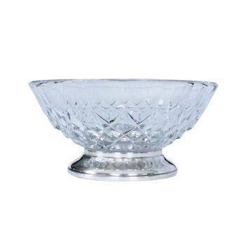 Pre-owned Italian Silver and Glass Bowl