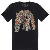 Riot Society Ornate Bear T-Shirt - Mens Tee - Black