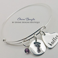 Baby Shower Gift - Personalized Baby Shower Jewelry - New Mommy Bracelet