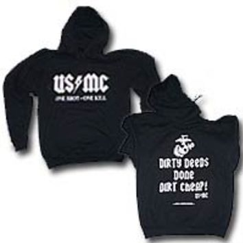 "US Marine Corps ""One Shot-One Kill"" Hooded Sweatshirt - USMC Sniper Hoodie"