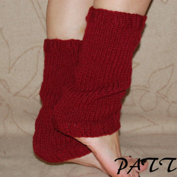 KNITTING PATTERN : Yoga  Leg Warmers Pattern