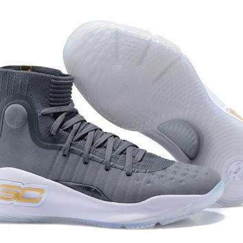 Under Armour Curry 4 Grey White Gold 1298306-401-1 - Beauty Ticks