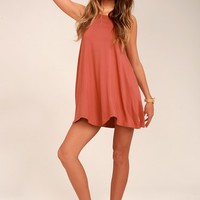 RVCA Thievery Rust Red Dress