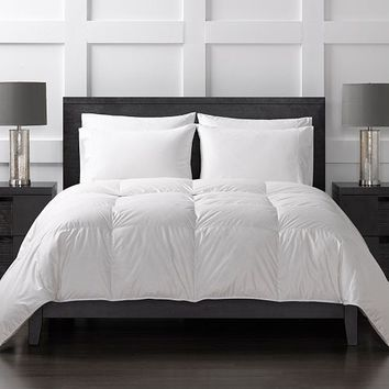 Sharper Image 370 Thread Count Year Round White Duck Down Comforter