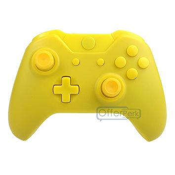 Custom Matte Yellow Shell Cover Full&Kit For XBOX One Wireless Controller