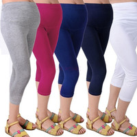 Solid Cotton Adjustable High Elasticity Maternity Leggings Pregnant Clothes Pants For Women Baby Kids SV005052|26601 = 1745572100