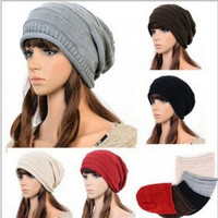 Unisex Fashion Winter Hip Hop cap knitted Wool  Casual Beanie Hats = 1958128644