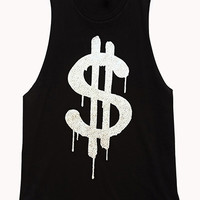 Dollar Sign Muscle Tee